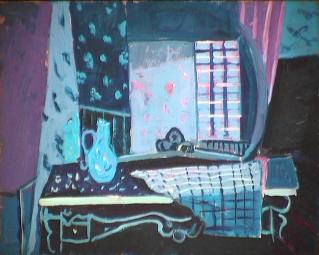 La cuisine de nuit - 1981 Acrylique sur masonite 41cm X 51cm Louis Fortier