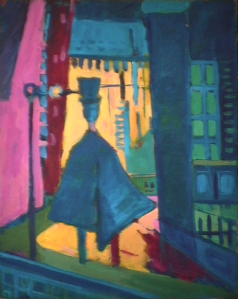 Le gentleman - 1981 Acrylique sur masonite 41cm X 51cm Louis Fortier