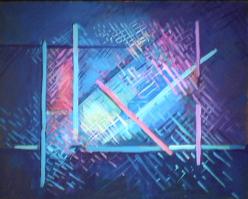 Aurore - 1981 Acrylique sur masonite 41cm X 51cm Louis Fortier