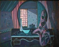 Masque - 1981 Acrylique sur masonite 41cm X 51cm Louis Fortier