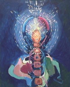 Manequin - 1981 Acrylique sur masonite 41cm X 51cm Louis Fortier