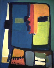 Attachement - 1984 Acrylique sur masonite 21cm X 26cm Louis Fortier