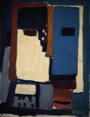 Chevalier - 1984 Acrylique sur masonite 21cm X 26cm Louis Fortier
