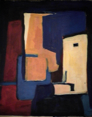 Insertitude - 1984 Acrylique sur masonite 21cm X 26cm Louis Fortier