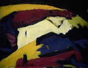 Dame nature - 1984 Acrylique sur masonite 21cm X 26cm Louis Fortier