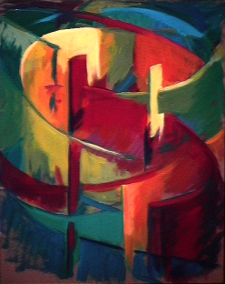 Tourbillon - 1980 Acrylique sur masonite 41cm X 51cm Louis Fortier