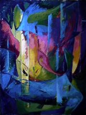Émergence - 1980 Acrylique sur masonite 91cm X 122cm Louis Fortier