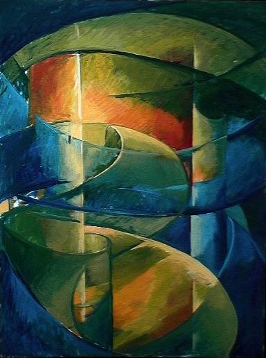 Paradis - 1980 Acrylique sur masonite 91cm X 122cm Louis Fortier