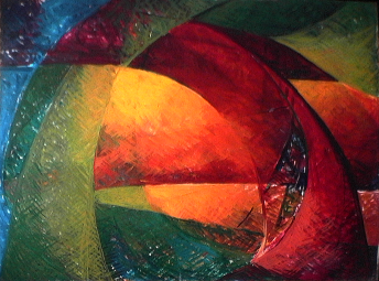 Pirogue - 1980 Acrylique sur masonite 91cm X 122cm Louis Fortier