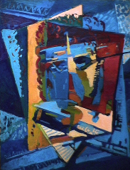 Autoportrait - 1980 Acrylique sur masonite 91cm X 122cm Louis Fortier