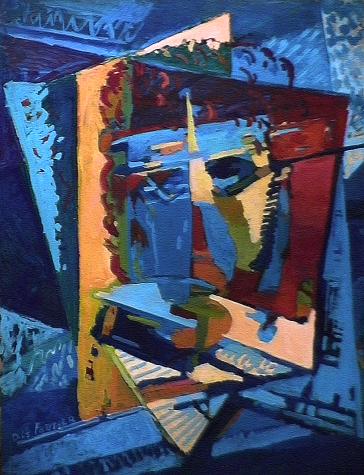 Autoportrait - 1980 Acrylique sur masonite 91cm X 122cm Louis Fortier