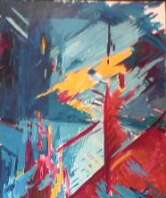 Éléments - 1984 Acrylique sur masonite 92cm X 122cm Louis Fortier