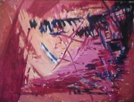 Rêve - 1984 Acrylique sur masonite 92cm X 122cm Louis Fortier