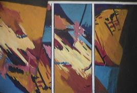 Chasse - 1984 Acrylique sur masonite 92cm X 122cm Louis Fortier