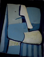 Philosophe - 1984 Acrylique sur masonite 21cm X 26cm Louis Fortier