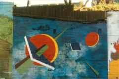 Fresques de l'Îlot Fleurie Doris Bordage 1991 Louis Fortier, Collection personnelle.