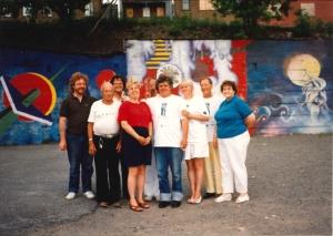 Îlot Fleurie Fresques Photo de Groupe